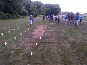 row of hard fescue entries